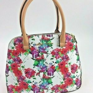 Adrienne Vittadini Dome Satchel handbag purse Flor